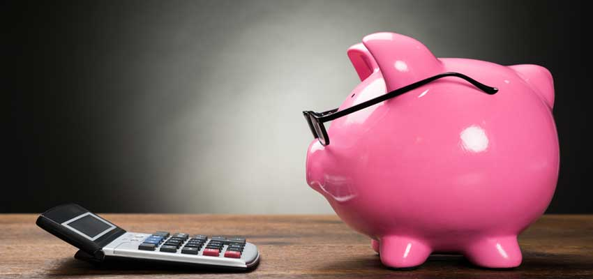 Pink-Piggy-Bank-and-Calculator
